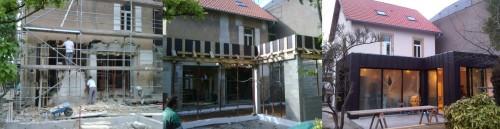 Création extension maison avant apres