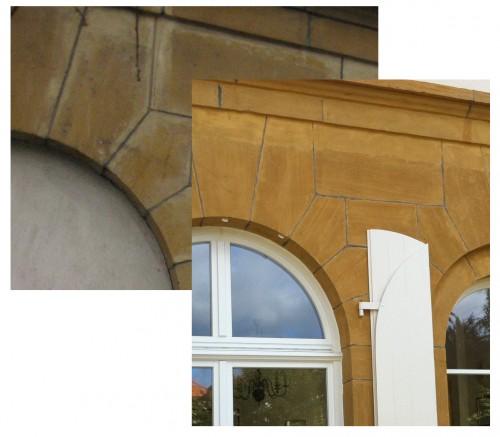 Réfection façades en pierre de jaumont