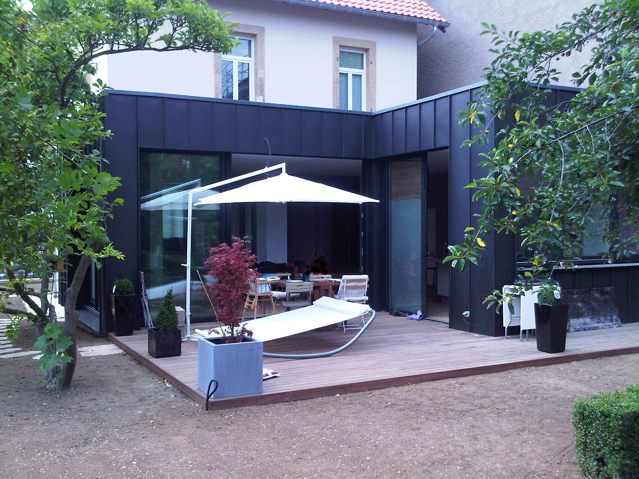 Cr ation d 39 une extension et d 39 une terrasse moselle 57 for Agrandissement pavillon