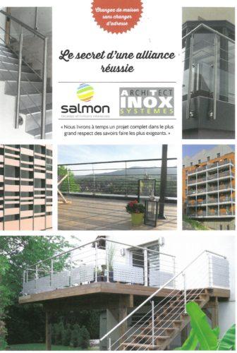 Partenarait entre Salmon et at-inox pour des façades rénovées dans tous les détails