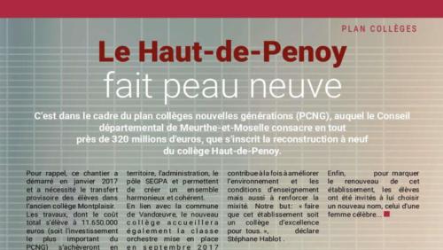 Renovation du haut de penoy : magasine de la commune Vandoeuvre-les-Nancy