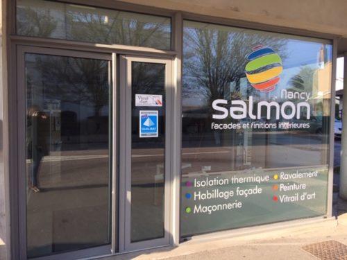 L'agence Salmon à Nancy : ravalement de façade, isolation thermique, peinture, vitrail...