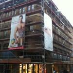 Pose échafaudage tubulaire sur Metz