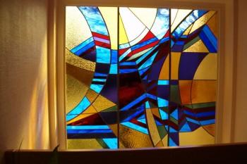 Création d'un vitral abstrait