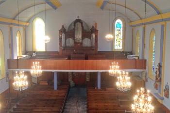 peinture intérieure église après