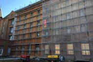 Batiment 1800 en briques rouges ravalement de facade