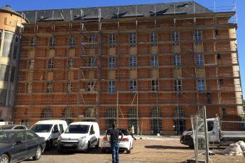 Ravalement de facade du lycee Faber a Metz