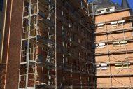 Travaux de ravalement de facade en brique sur le lycee Faber a Metz